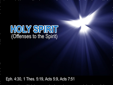 Spirit-offenses